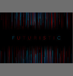 blue red abstract lines technology futuristic vector image