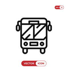 bus icon auto bustransport symbol vector image