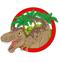 Cartoon big dinosaur vector image