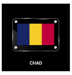chad flag design vector image