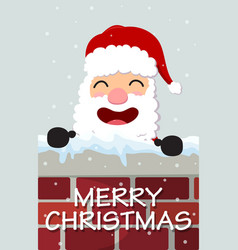 Christmas santa claus reindeer and snowmen vector