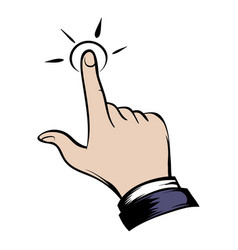 click hand icon cartoon vector image