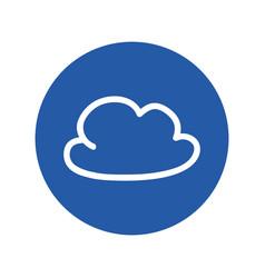 Cloud doodle symbol vector