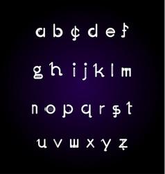 Collection alphabet letters logos set design vector