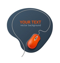 Computer mouse and text vector