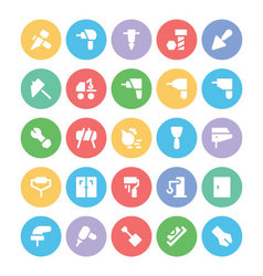 Construction icons 5 vector