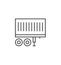 container trailer line outline icon vector image