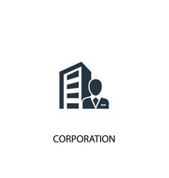 Corporation icon simple element vector