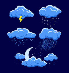 Different weather vector