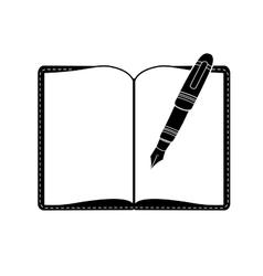 Elegant pen icon image vector