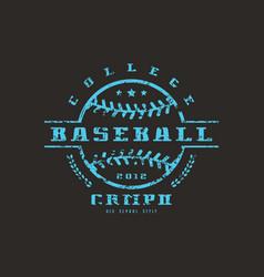 Emblem baseball college championship vector
