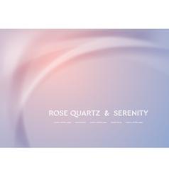 Futuristic rose quartz and serenity wavy vector