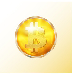golden bitcoin coin icon vector image