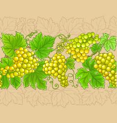 grapes branches horizontal pattern vector image