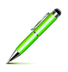 green pen isolated on white vector image