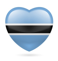 Heart icon of Botswana vector image