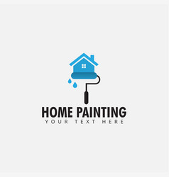 home painting logo design template isolated vector image