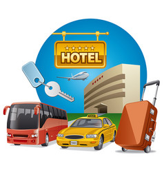 hotel services and transport vector image