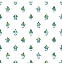 hug cactus pattern seamless vector image