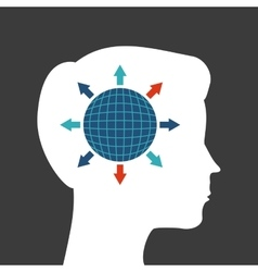 Human head design Creativity and think concept vector