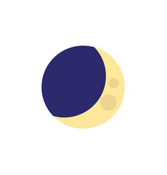 Isolated crescent flat icon half moon vector