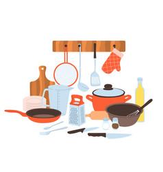 Kitchen utensils baking and cuisine tools vector