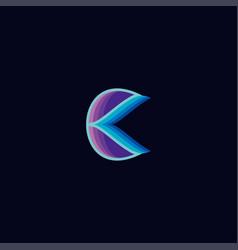 Letter c colorful logo design vector