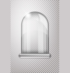 magic crystal flask of glass empty snow bulb vector image