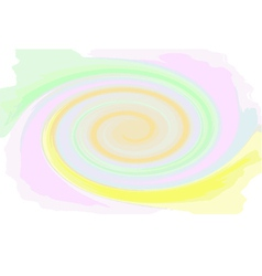 Multicoloured swirl spiral colorful abstract vector