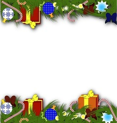 New year or Christmas background2 vector image