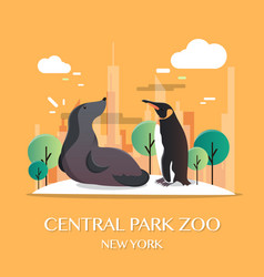 new york landmark central park zoo vector image