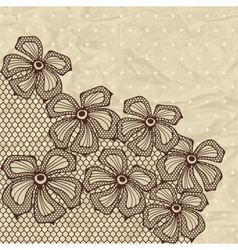 Old lace background ornamental flowers vector