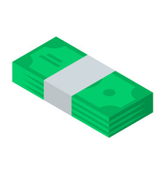 packed dollar icon isometric style vector image