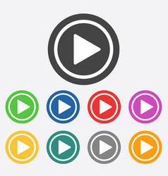 play button web icon flat vector image