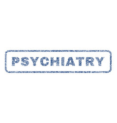 Psychiatry textile stamp vector