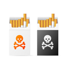 Realistic detailed 3d cigarette warning pack with vector