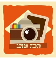 Retro photo vector