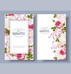 romantic garden banners vector image
