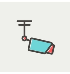 Rooftop antenna thin line icon vector image
