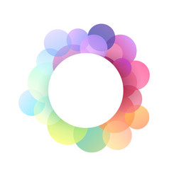 round frame with festive multicolored confetti and vector image