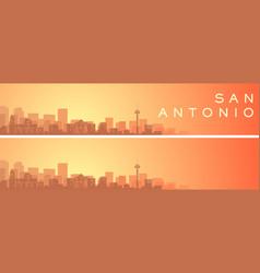 San antonio beautiful skyline scenery banner vector