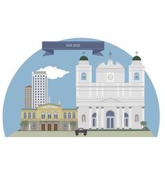 San Jose vector image