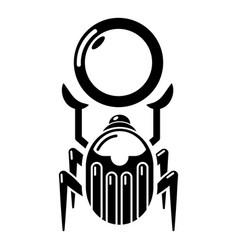 scarab icon simple black style vector image