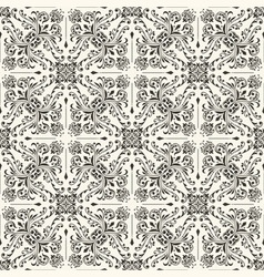 seamless vintage floral wallpaper vector image