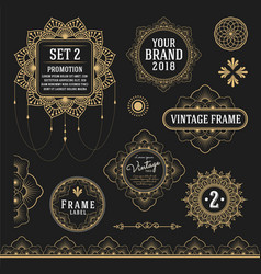 Set of retro vintage graphic design vector