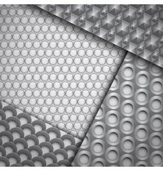 set several seamless carbon fiber patterns vector image