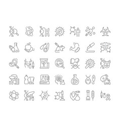 set simple icons genome engineering vector image