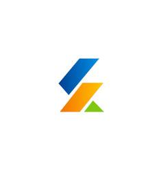 shape abstract colored company logo vector image