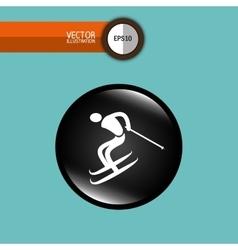 ski sport design vector image