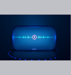 smart speaker with voice control voice vector image
